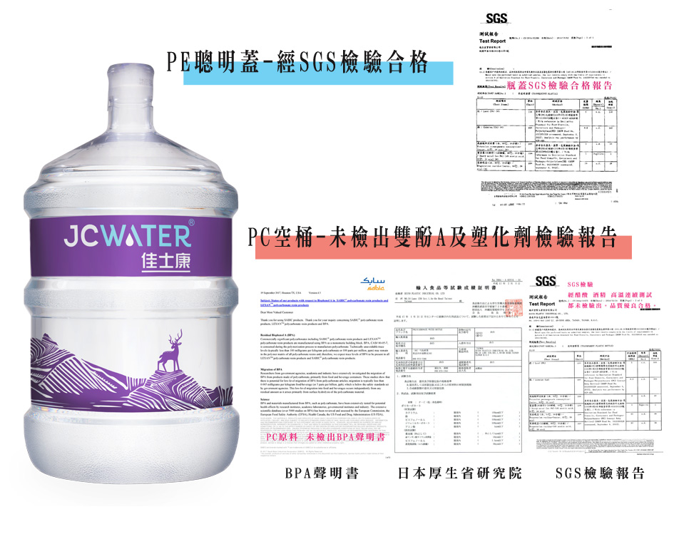 桶裝水容器SGS檢驗報告